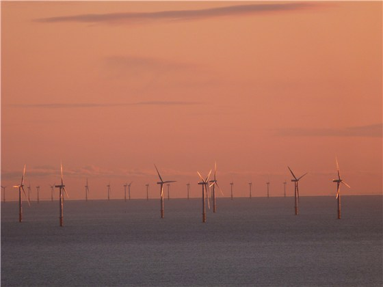 Great Orme windfarm dawn