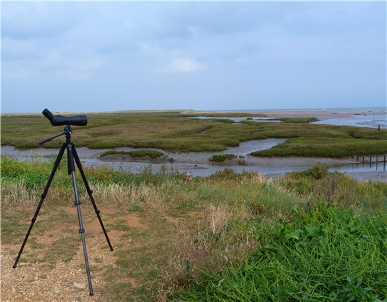 Thornham Harbour Leica scope
