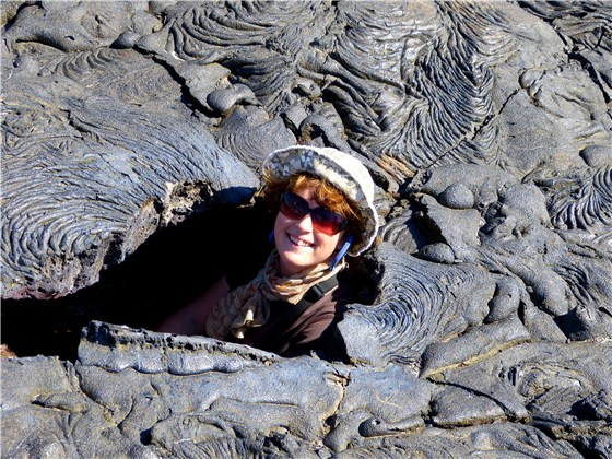 Ruth in a hole lava