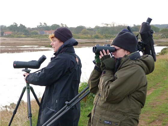 Ruth and Jayne birding
