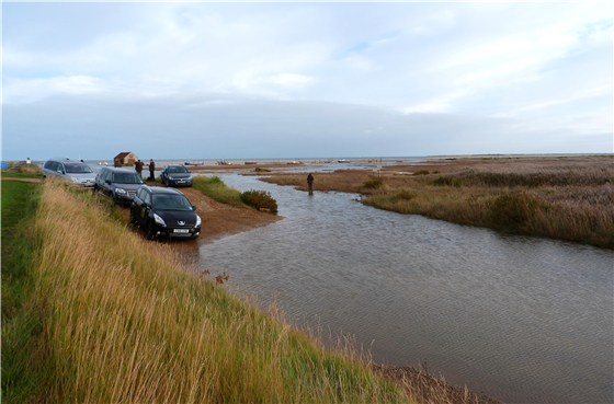 Thornham harbour high tide wait