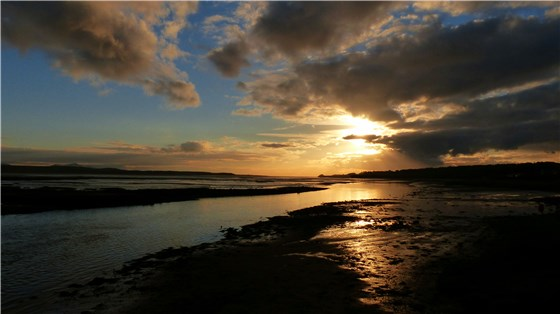 Cefni Estuary sunset Nov